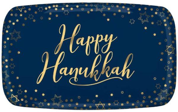 Happy Hanukkah Rectangular Platter
