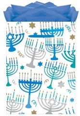Hanukkah Menorah Medium Gift Bag