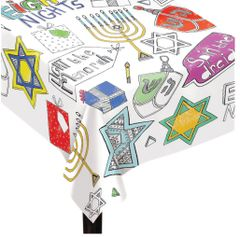 Hanukkah Color-In Table Cover