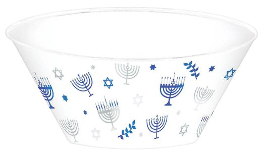 Hanukkah Serving Bowl, Hot-Stamped