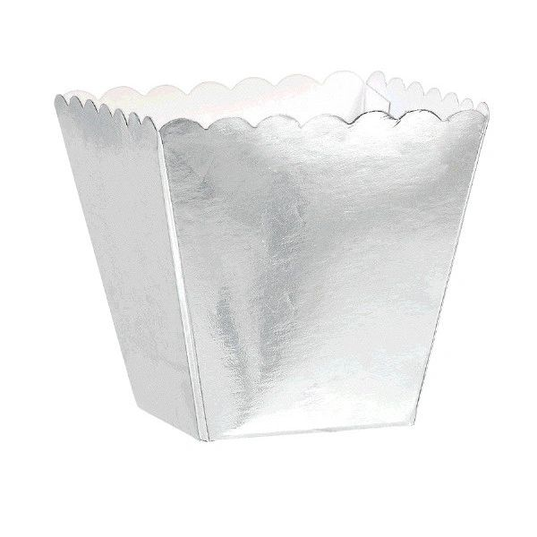 Silver Scalloped Favor Boxes, 100ct