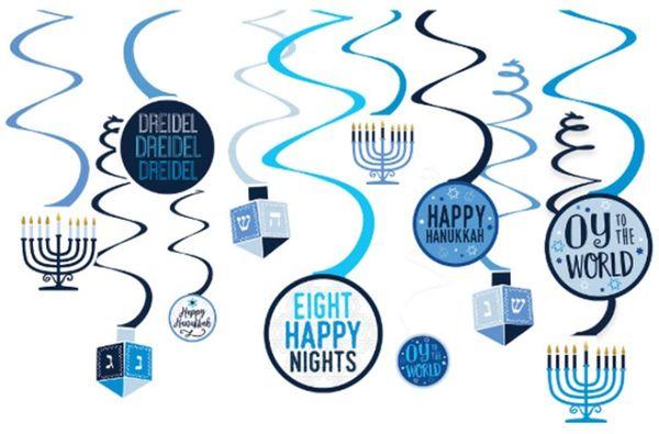 Hanukkah Spiral Decorations