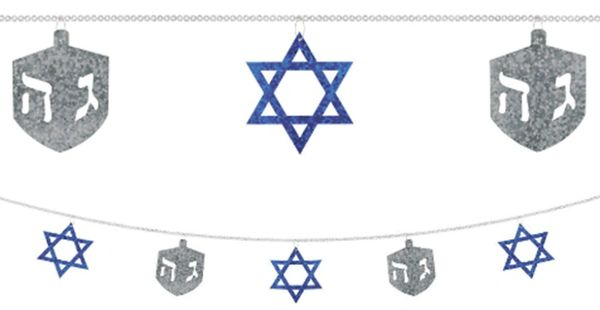 Hanukkah Sequin Ring Garland