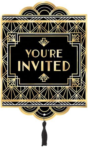 Glitz & Glam Jumbo Deluxe Invites, 8ct
