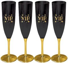 Glitz & Glam Champagne Glasses, 5oz - 4ct
