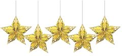 Glitz & Glam Metallic Star Decoration, 5ct