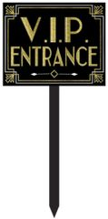 Glitz & Glam VIP Entrance Yard Stake