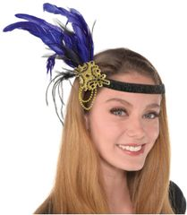 Jeweled Feather Headband