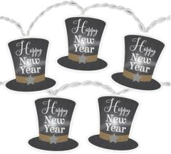 LED New Year's Battery Operated Lights w/ Top Hats