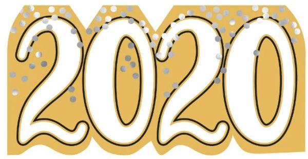2020 Signable Cutout - Black, Silver, Gold