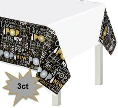 Celebrate The New Year Plastic Table Cover, 3ct