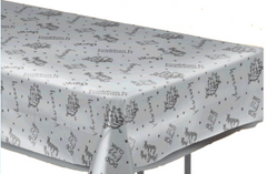 New Year's Clear Plastic Table Cover