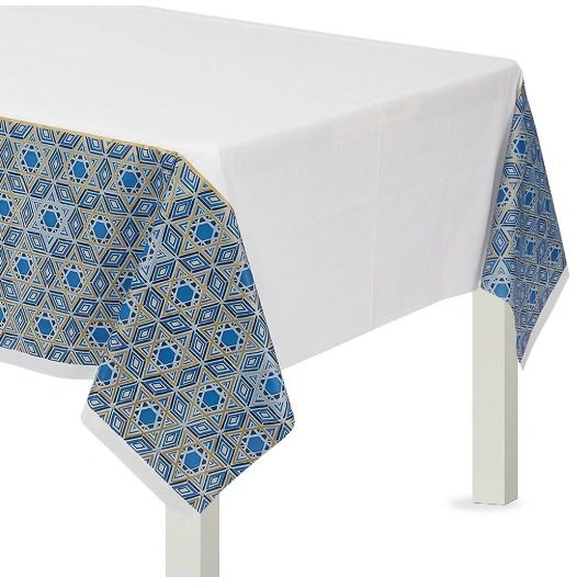 Hanukkah Festival of Lights Plastic Table Cover