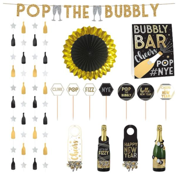 Deluxe Bubbly Bar Decorating Kit, 29pc