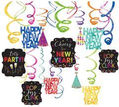 New Year's Mega Value Pack Foil Swirls - Jewel Tone, 30ct