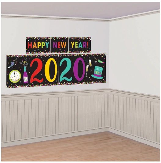 2020 New Year's Scene Setters® Decorating Kit - Jewel Tones, 5pc