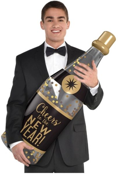 Inflatable Champagne Bottle Prop, 3ft