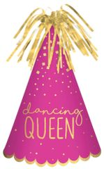 Dancing Queen Cone Hat - Pink