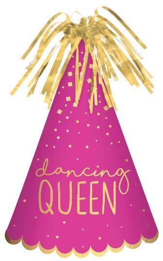 Dancing Queen Cone Hat - Pink
