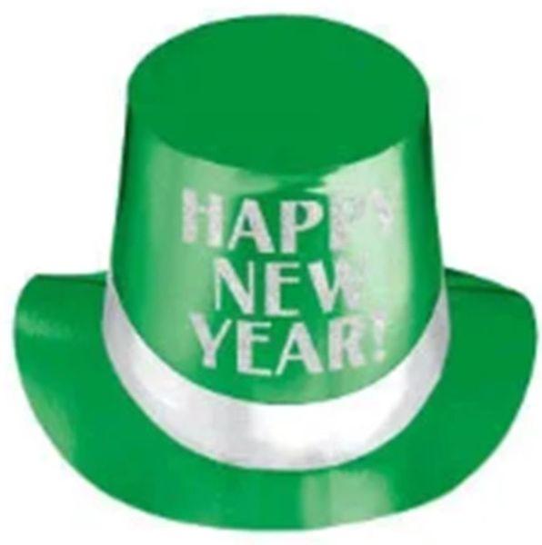 Happy New Year Green Top Hat - Jewel Tone