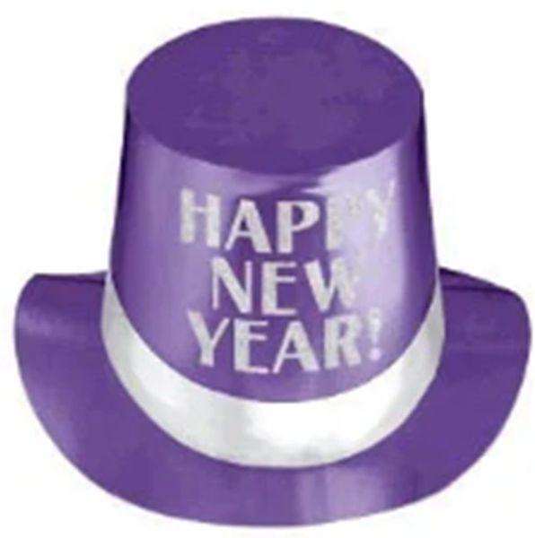 Happy New Year Purple Top Hat - Jewel Tone