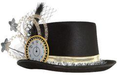 Clock Top Hat - Black, Silver, Gold