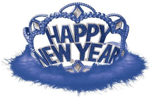 Happy New Year Tiara - Blue