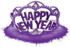 Happy New Year Tiara - Purple
