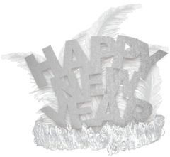 Happy New Year Tiara - Silver