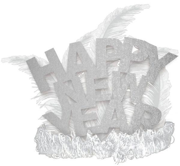 Happy New Year Tiara - Silver