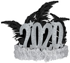 """2020"" Feather Tiara"