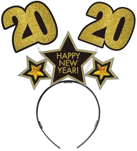 """2020"" New Year Bopper - Black, Silver, Gold"