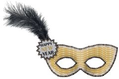 Happy New Year Sequin Mask