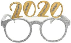"""2020"" Mixed Glitter Glasses - Silver"