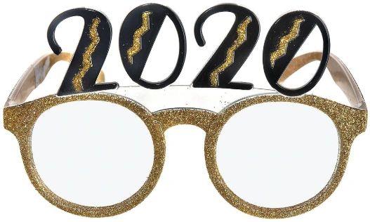 2020 Mixed Glitter Glasses - Gold