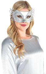 Mardi Gras Mask - Silver