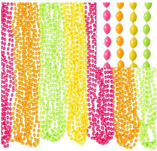 "Neon Bead Necklaces, 30"" - 50ct"
