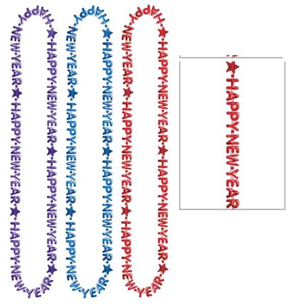 "Happy New Year Beads, 3 Pack - Multi, 33"" - 3ct"