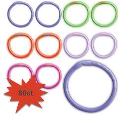 "8"" Glow Stick - Mega Value Multi Color, 80ct"