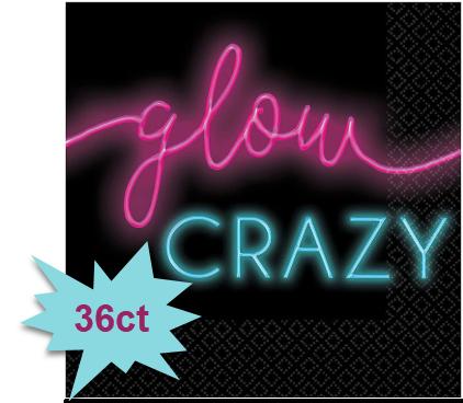 New Year's Glow Beverage Napkins, 36ct