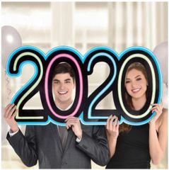 """2020"" Giant Neon Photo Prop"