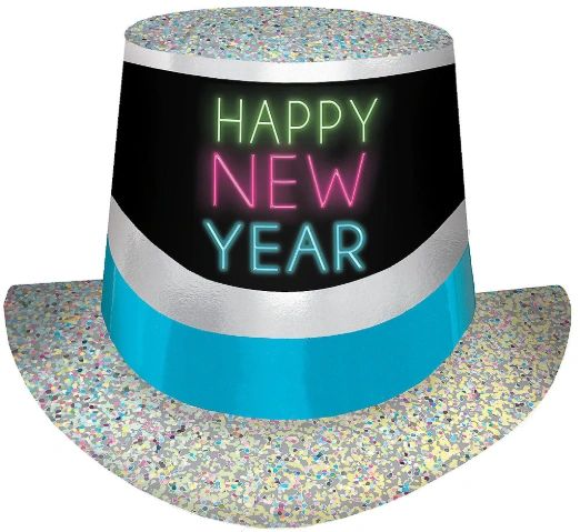 New Year's Glow Top Hat