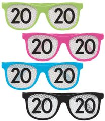 """2020"" New Year's Printed Glasses - Neon, 8ct"