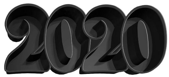 """2020"" Plastic Tray"