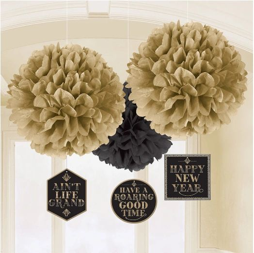 Roaring New Year's Eve Fluffies w/ Danglers, 3ct