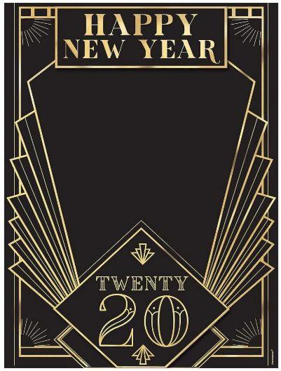"""""""2020"""" Roaring 20's Chalkboard Easel Sign"""