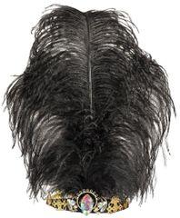 Vintage Jeweled Feather Tiara