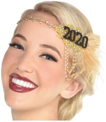 """2020"" Stunning 2020 Feather Headband"