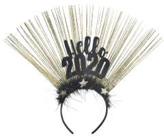 """2020"" Hello 2020 Marabou Headband"
