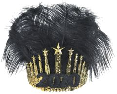 """2020"" Gilded Feather Crown"